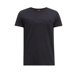 バルマン(BALMAIN)の【BALMAIN】バルマン エンボスロゴTシャツ 黒 Sサイズ 美品(Tシャツ/カットソー(半袖/袖なし))