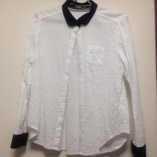 ジーユー(GU)のレースシャツ(シャツ/ブラウス(長袖/七分))