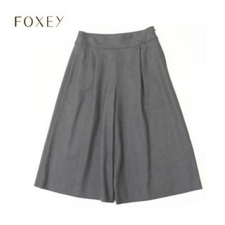FOXEY - FOXEY BOUTIQIE ワイドパンツ ガウチョ 38 ミディアムグレー