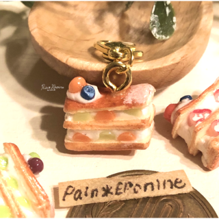 【メロン】フルーツたっぷりミルフィーユチャームorストラップ(チャーム)