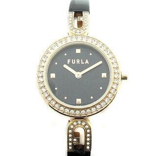 フルラ(Furla)のフルラ FURLA 腕時計 アナログ クオーツ 2針 ラインストーン 黒(腕時計)