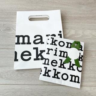 マリメッコ(marimekko)の最新 マリメッコ marimekko ショッパー 紙袋 ギフトバッグ セット(ショップ袋)