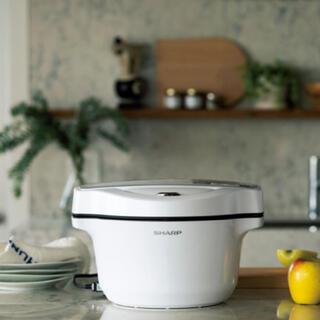 SHARP - SHARP 水なし自動調理鍋 ヘルシオ ホットクック KN-HW16F-W