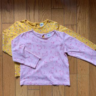 エイチアンドエム(H&M)のH&M 長袖Tシャツ 12-18m  2枚セット【記名あり】(Tシャツ)