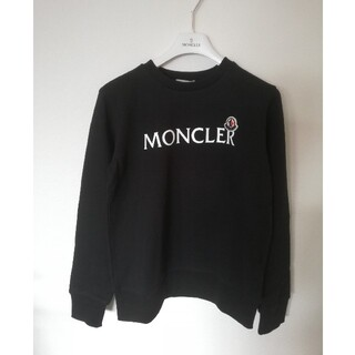 モンクレール(MONCLER)の【新品】MONCLERモンクレール スウェットトップス黒 14A(トレーナー/スウェット)