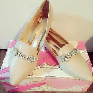 レディー(Rady)のビジューフラットシューズ(ローファー/革靴)