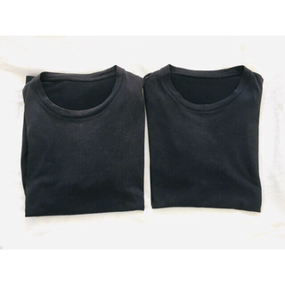 UNIQLO - UNIQLO  半袖 クルーネックTシャツ ブラック 2枚セット