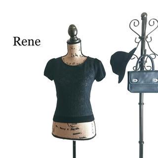 ルネ(René)のRene ルネ 半袖カットソー レディース ブラック(Tシャツ(半袖/袖なし))
