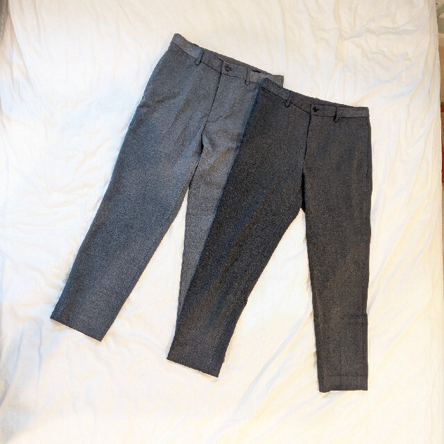 UNIQLO(ユニクロ)のユニクロ EZY アンクル パンツ ウールライク メンズのパンツ(スラックス)の商品写真