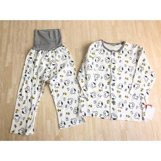 スヌーピー(SNOOPY)のスヌーピー 前ボタン 腹巻付き パジャマ 90 綿100%(パジャマ)