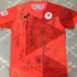 アシックス(asics)の2020東京オリンピック公式シャツLソフトボール女子日本代表 直筆フルサイン入(記念品/関連グッズ)