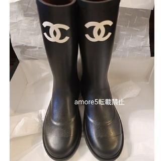 シャネル(CHANEL)の【希少】シャネルレインブーツ38サイズ(レインブーツ/長靴)