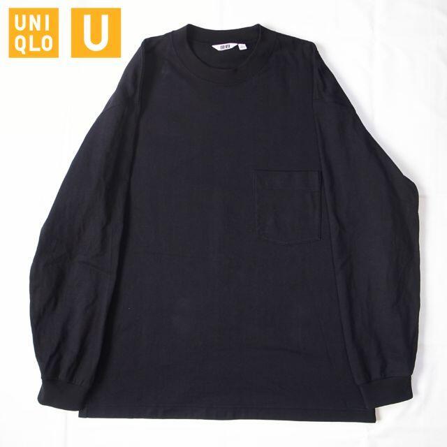 UNIQLO(ユニクロ)のLサイズ uniqlo u クルーネックT 長袖 メンズのトップス(Tシャツ/カットソー(七分/長袖))の商品写真