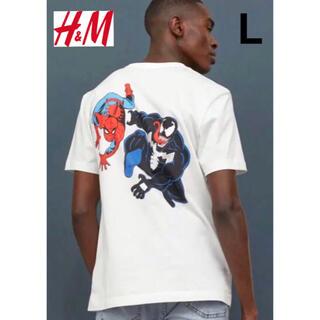 エイチアンドエム(H&M)の新品 安値 H&M スパイダーマン × ヴェノム Tシャツ L(Tシャツ/カットソー(半袖/袖なし))