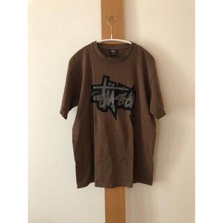 STUSSY - Suttusy  ブラウン Tシャツ