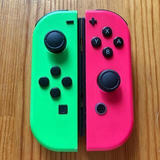 Nintendo Switch - Switch ジョイコン ネオングリーン×ネオンピンク スプラカラー