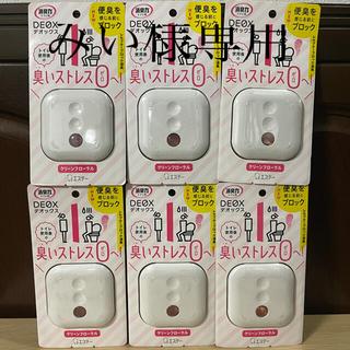 【エステー】消臭力トイレ用DEOXデオックス本体×6個セットクリーンフローラル