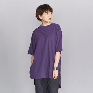ビューティアンドユースユナイテッドアローズ(BEAUTY&YOUTH UNITED ARROWS)のコットンサイドスリットビッグロングスリーブTシャツ(Tシャツ(半袖/袖なし))
