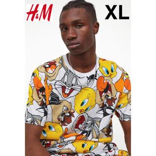 エイチアンドエム(H&M)の新品 安値 H&M × ルーニーテューンズ Tシャツ XL(Tシャツ/カットソー(半袖/袖なし))