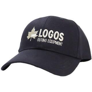 ロゴス(LOGOS)のLOGOS ロゴス キャップ ロゴ刺繍 約57~59cm 調節可能★ブラック新品(キャップ)