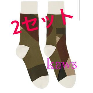 sacai - 3サイズ sacai x KAWS / Socks CAMOUFLAGE2セット