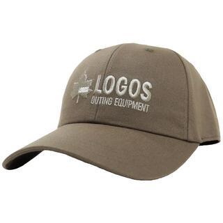 ロゴス(LOGOS)のLOGOS ロゴス キャップ ロゴ刺繍 約57~59cm 調節可能★カーキ新品(キャップ)