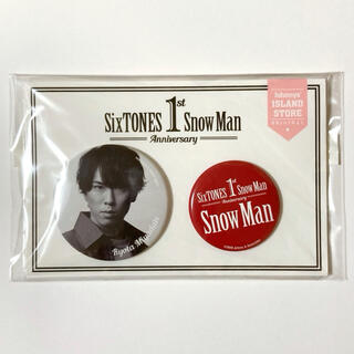 Johnny's - Snow Man 1st Anniversary 宮舘涼太 缶バッジ