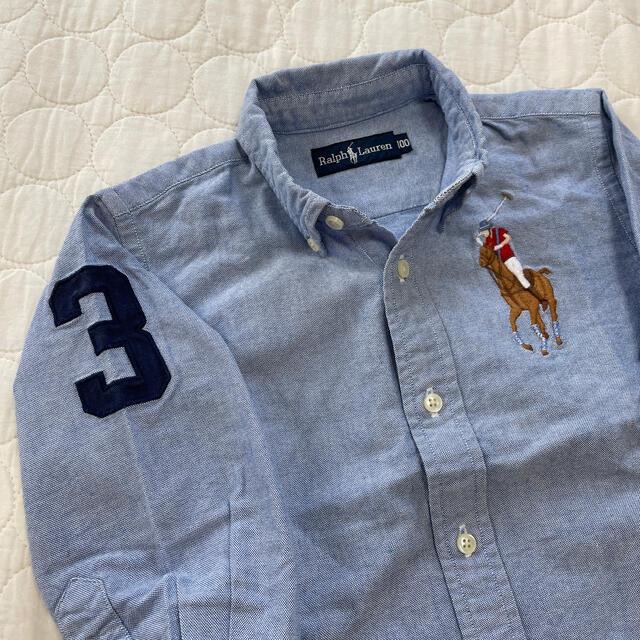 Ralph Lauren(ラルフローレン)のめな1210様 ラルフローレン100 ダンガリーシャツ キッズ/ベビー/マタニティのキッズ服男の子用(90cm~)(ブラウス)の商品写真