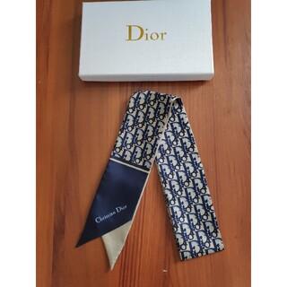 クリスチャンディオール(Christian Dior)の❀クリスチャンディオール ネイビー❗️シンプルでオシャレ❗️❗️(バンダナ/スカーフ)