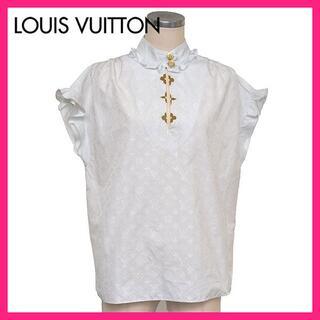 LOUIS VUITTON - 美品♪ルイヴィトン 定価14.7万 モノグラム フリル ブラウス 38