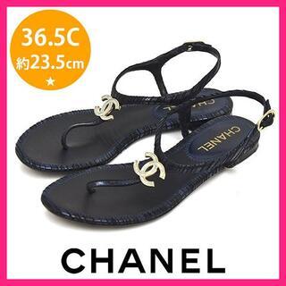 CHANEL - 美品♪シャネル ココマーク トングサンダル 36.5C(約23.5cm)