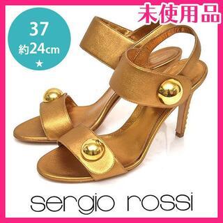 セルジオロッシ(Sergio Rossi)の新品♪セルジオロッシ スタッズヒール サンダル 37(約24cm)(サンダル)