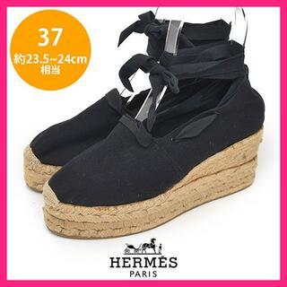 エルメス(Hermes)のエルメス Castanerコラボ リボン エスパドリーユ 37(約23.5-24(サンダル)