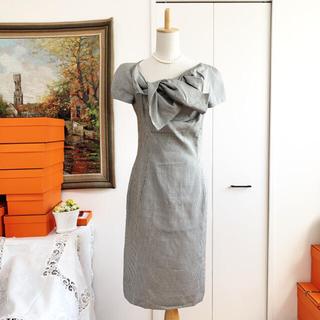 クリスチャンディオール(Christian Dior)の極美品 Christian Dior ディオール 千鳥格子 ワンピース ドレス(ひざ丈ワンピース)