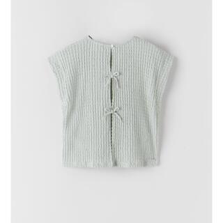 ZARA KIDS - ZARA KIDS リボンディティール付き Tシャツ 128