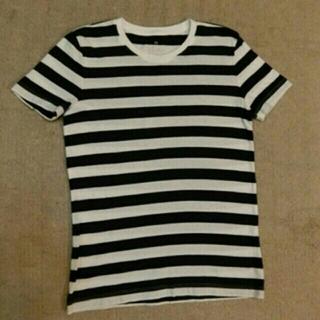 ムジルシリョウヒン(MUJI (無印良品))の無印良品 ボーダーTシャツ 紺(Tシャツ(半袖/袖なし))