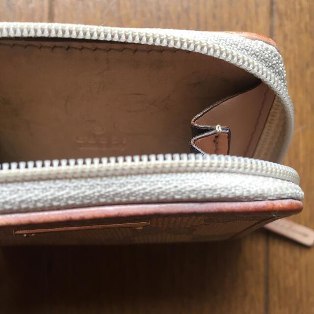 Gucci(グッチ)のGUCCI グッチ ピンク ラウンド ジップ ファスナー コインケース メンズのファッション小物(コインケース/小銭入れ)の商品写真