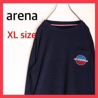 アリーナ(arena)のarena アリーナ ロンT ボーダー 胸ポケ ワンポイント 古着 OLD レア(Tシャツ/カットソー(七分/長袖))
