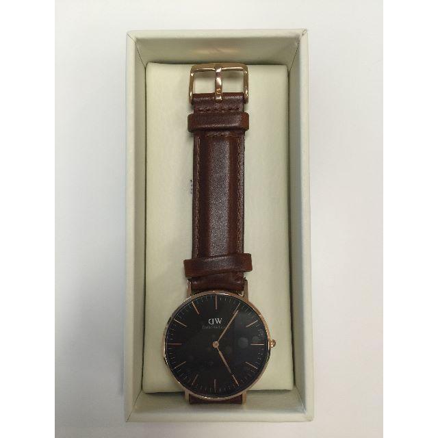 Daniel Wellington(ダニエルウェリントン)のダニエルウェリントン新品ピンクゴールド×ブラウン40MMレザー メンズの時計(腕時計(アナログ))の商品写真