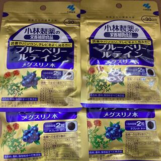 コバヤシセイヤク(小林製薬)の小林製薬 ブルーベリールテイン メグスリノ木 30日分×4袋(その他)