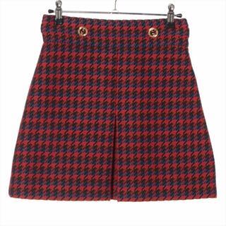 グッチ(Gucci)のグッチ  ウール 38 レッド レディース スカート(その他)