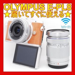 OLYMPUS - ❤Wi-Fi搭載❤可愛いミラーレス❤オリンパス PEN lite E-PL8❤