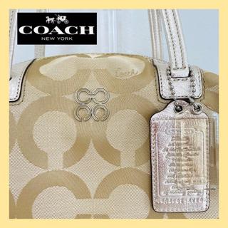 COACH - 【美品】COACH コーチジュリアオブアート ゴールドベージュ ボストンバッグ