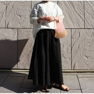 ドゥーズィエムクラス(DEUXIEME CLASSE)のMACHATT マチャット メモリーロングスカート F ブラック(ロングスカート)