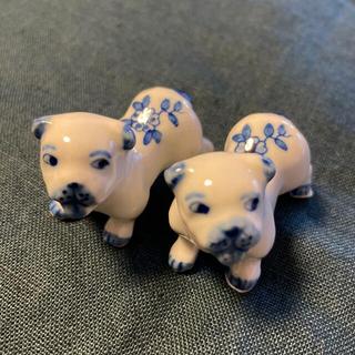 まいり様専用 犬 箸置き 2個 (テーブル用品)