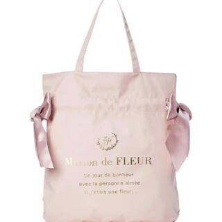 Maison de FLEUR - Maison de FLEUR ダブルリボントートバッグ ナイロンバッグ ピンク