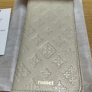 ラシット(Russet)の新品 ラシット スマホケース アイボリー russet(モバイルケース/カバー)