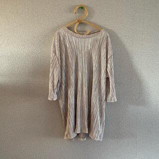 グレイル(GRL)のシルバー Tシャツ(サテン生地)(Tシャツ/カットソー(半袖/袖なし))