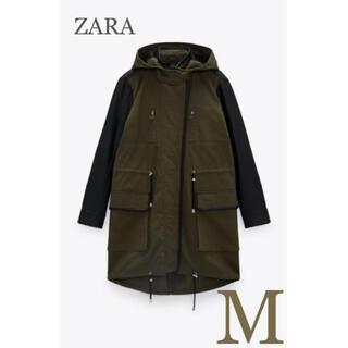 ZARA - 【新品・未使用】ZARA コンビパーカー ジャケット M
