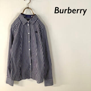 BURBERRY BLUE LABEL - 【美品】Burberry Blue Label ホース刺繍 ストライプシャツ